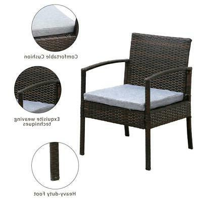 4 Patio Sectional Sofa Set Rattan Couch