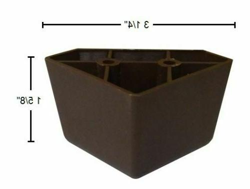 4 Universal Brown Triangle Legs Furniture Sofa~Couch~Chair
