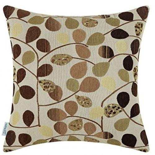 CaliTime Throw Pillow Cover 20 X 20 Inches, Luxury Chenille