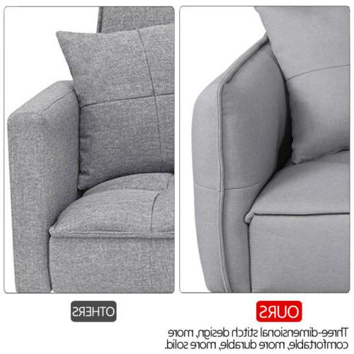 Adjustable Sofa Sleeper Pull Out Futon Daybed Loveseat