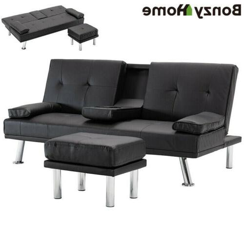 air leather sofa bed convertible folding futon