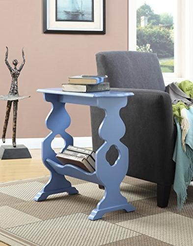 American Willow End Table, Blue