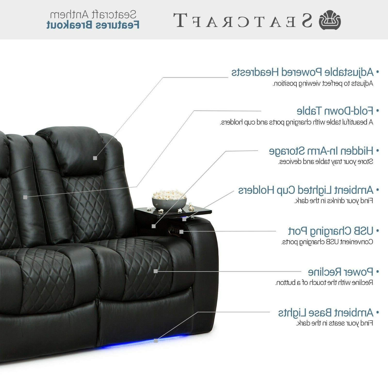 Seatcraft Anthem Leather Home Theater Seating Recliner Seat Couch