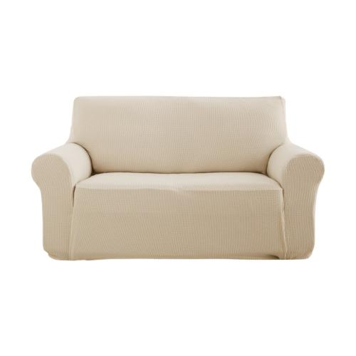 Deconovo Beige Loveseat SlipCover Couch Cover Fitted Spandex