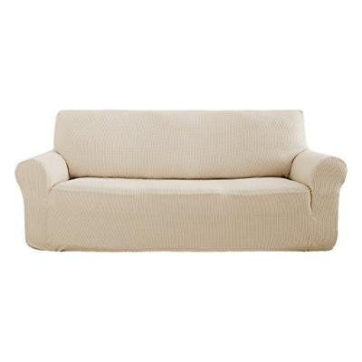 beige sofa slipcover 3 seat couch cover