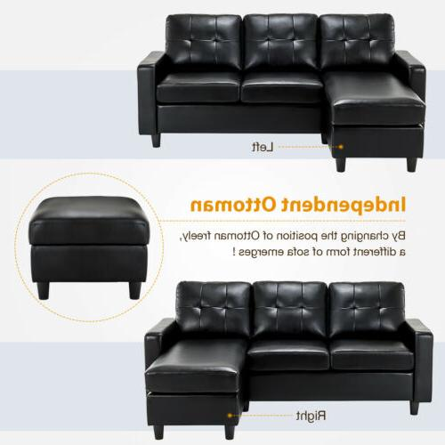 Black Sectional Chaise Space