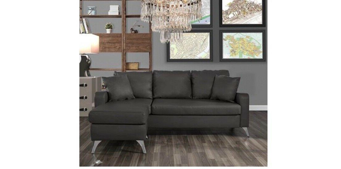 bonded leather sectional sofa small space