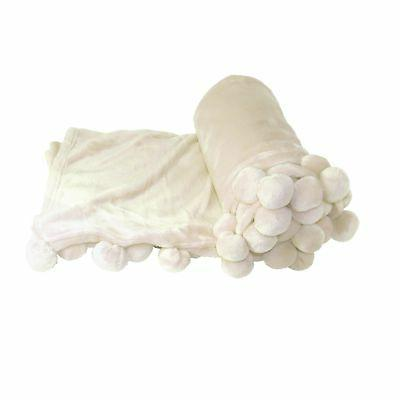 boon pompom bed couch throw blankets 50