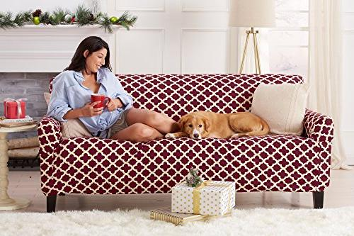 Home Fit, Slip Resistant, Stylish Furniture Cover/Protector Featuring Lightweight Stretch Collection Basic Brand.