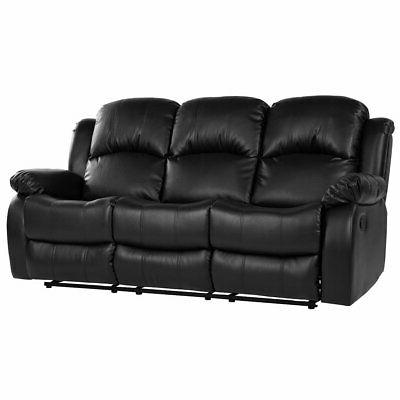 classic modern couch in bonded leather fabric