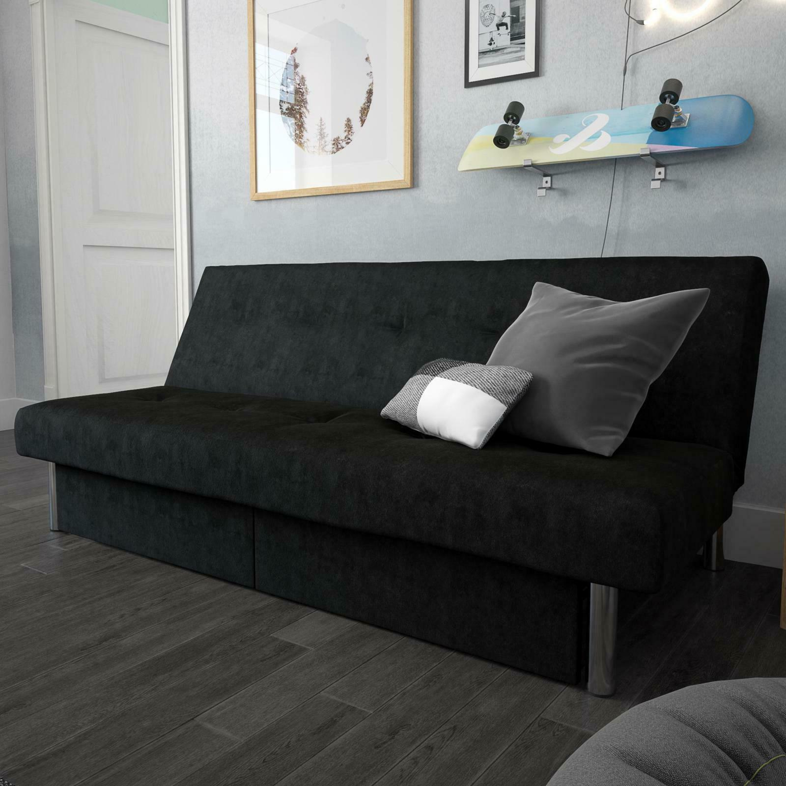 Convertible Futon Couch Sofa Bed Sleeper Microfiber Living