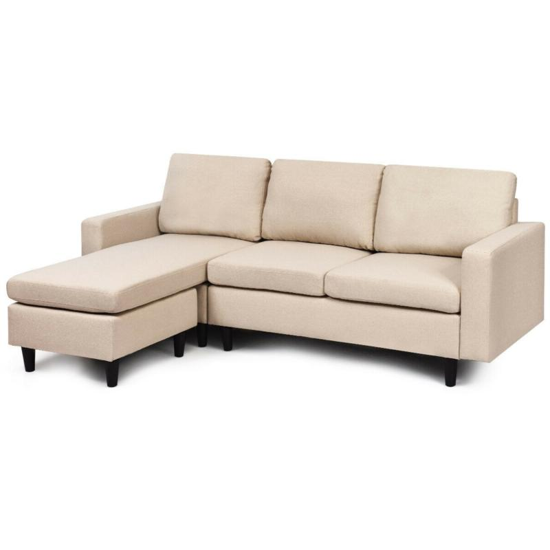 Convertible Sectional Couch with Reversible