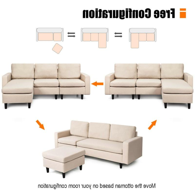 Convertible Sectional L-Shaped with Reversible Chaise