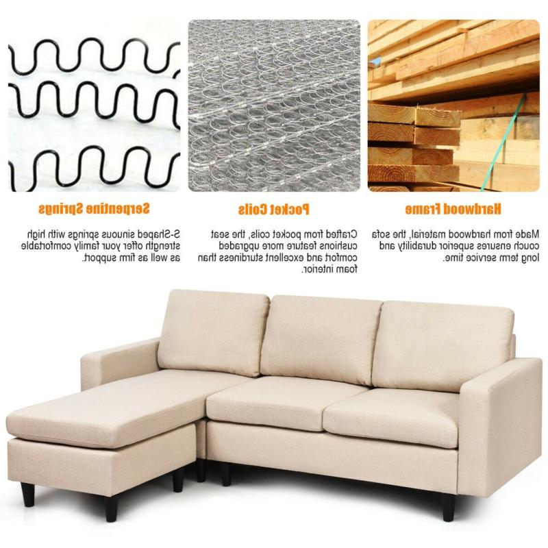 Convertible Sectional Couch with