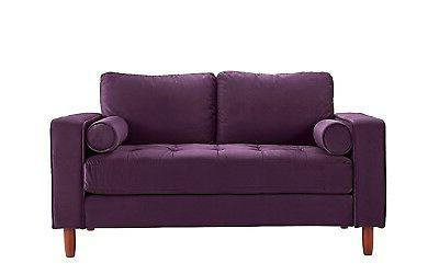 Couch Tufted w/ Back Purple