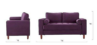 Couch for Living w/ Back Cushions, Tufted