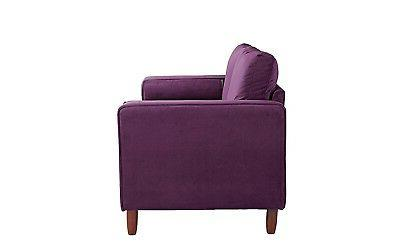 Couch Living w/ Cushions, Tufted Purple
