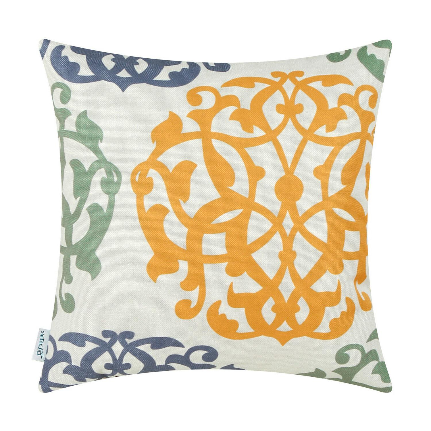 """CaliTime Covers Pillow Cases Three-tone 18""""X18"""" 20""""X20"""""""