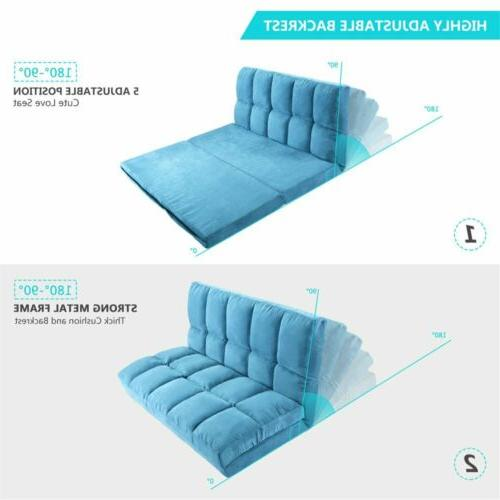 Fabric Bed Floor Furniture Reclining Couch US