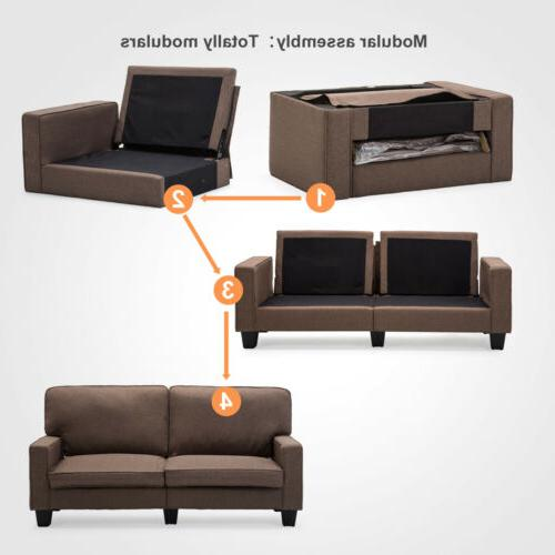 Fabric Loveseat Couch Sofa Living