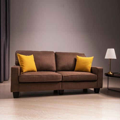 Fabric Couch Futon Upholstered Living