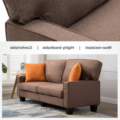 Fabric Loveseat Seater Couch Futon Upholstered Living