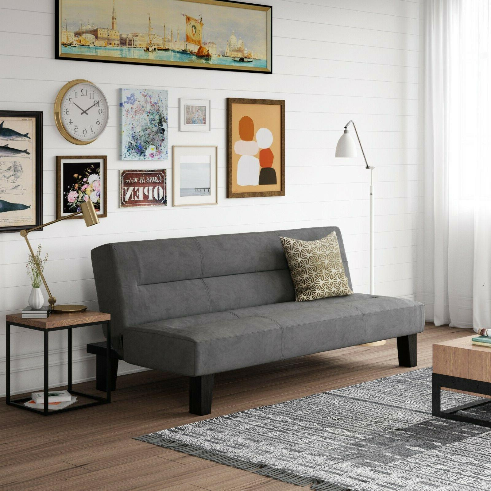 Futon Couch Small Microfiber Overnight Guests