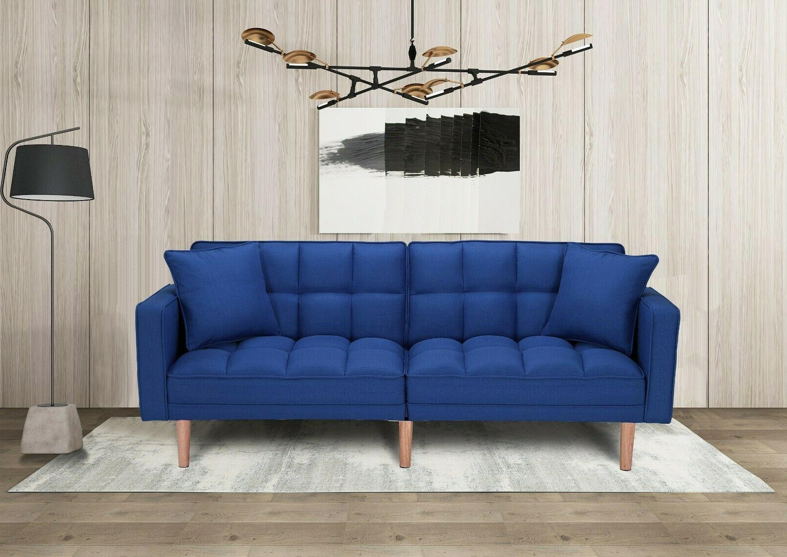Futon Sofa Back Lounge Couch Pillows