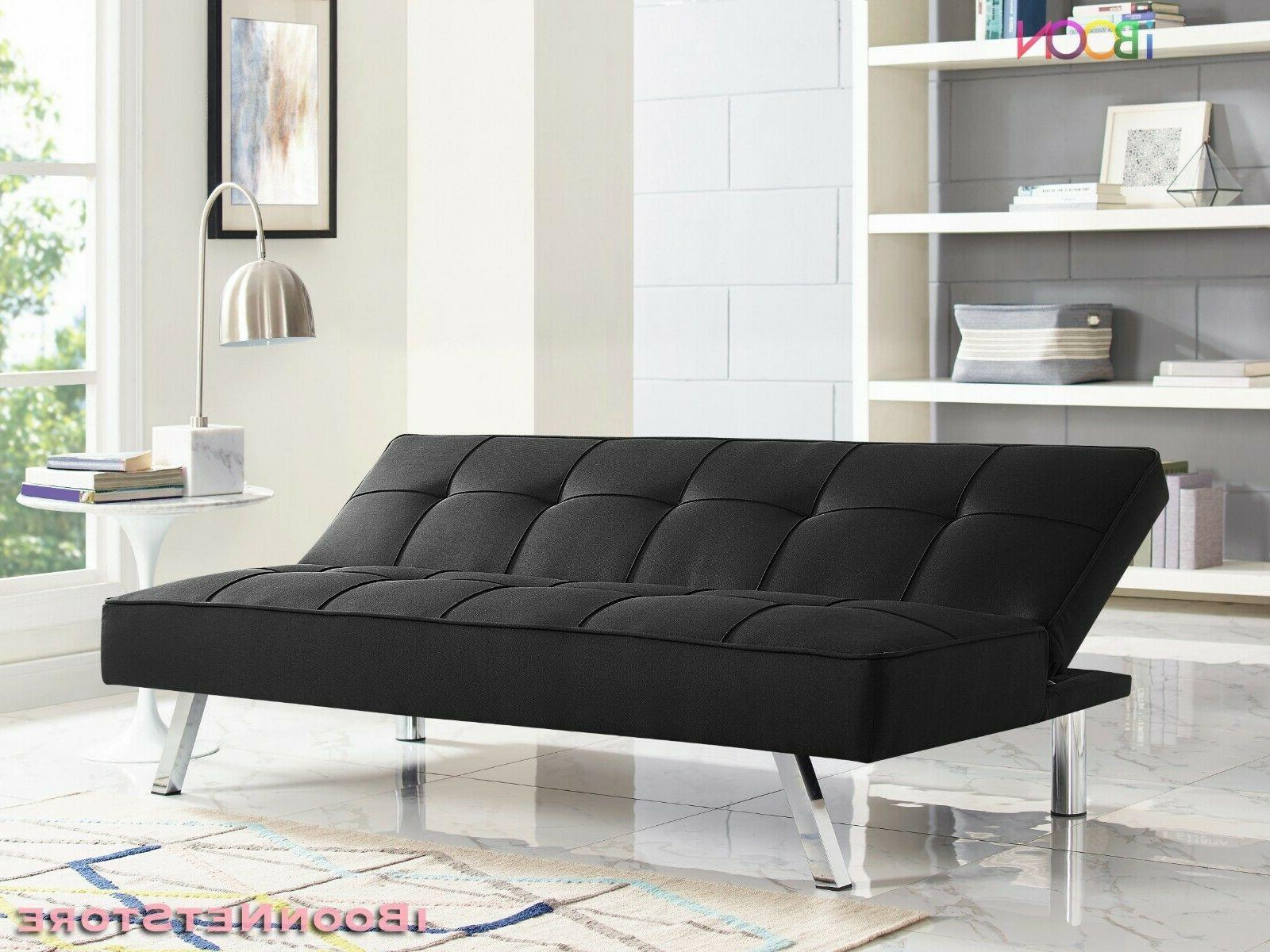 Futon Convertible Couch 3 Seat Foldable Size With Mattress
