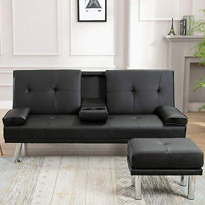 Futon Bed Couch 2 Cup Holders