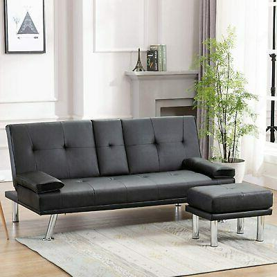futon sofa bed sleeper couch loveseat convertible