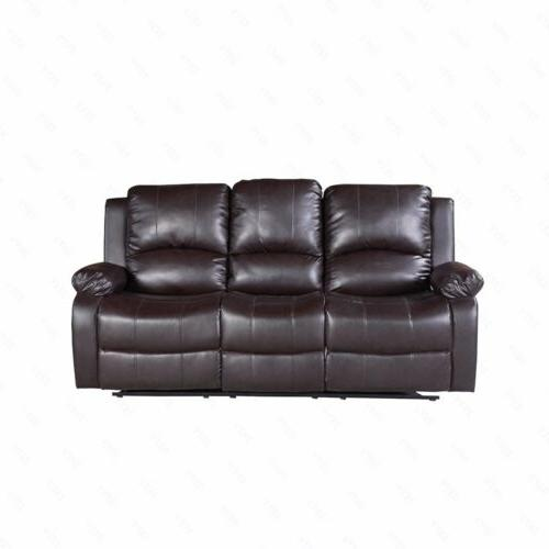3+2+1 Sofa Set Loveseat Couch Leather Living Room Black