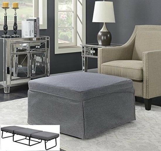 Gray Folding Convertible Bed Lounge