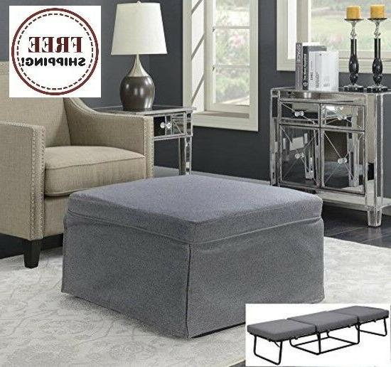 gray folding convertible sofa bed ottoman couch