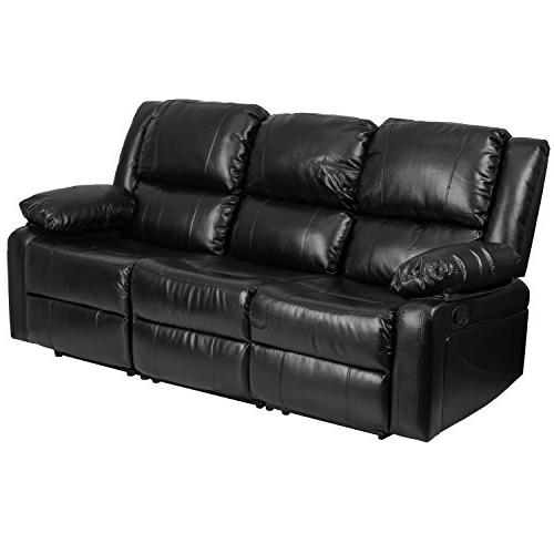 Flash Furniture Harmony Black Leather Two Built-In