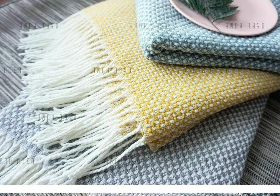 Home Soft Things Knitted Tweed Throw Weighted
