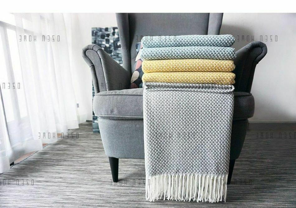home soft things knitted tweed throw couch
