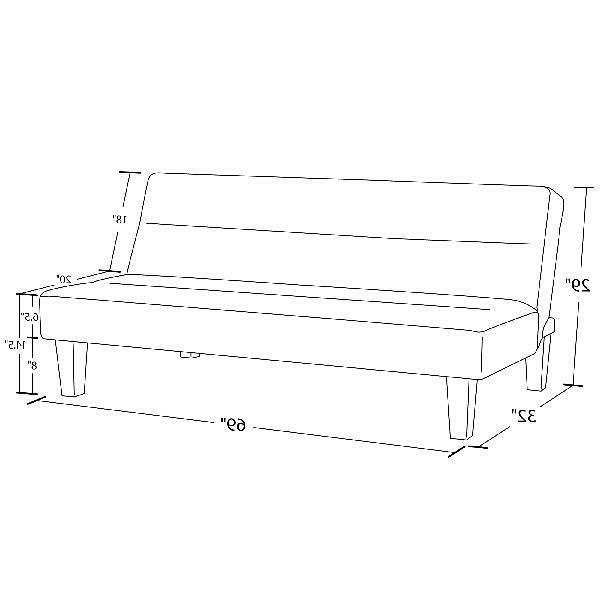 DHP Futon Couch with Microfiber Cover, Low Set Sofa Colors