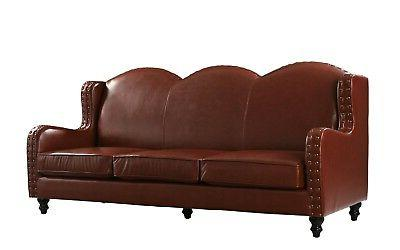 Leather 3 Seater, Living for 3, Brown