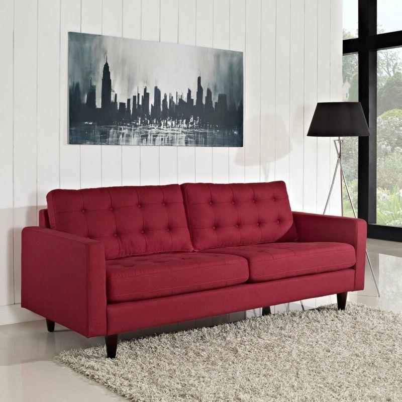 Living Room Solid Legs Modern Couch Upholstered