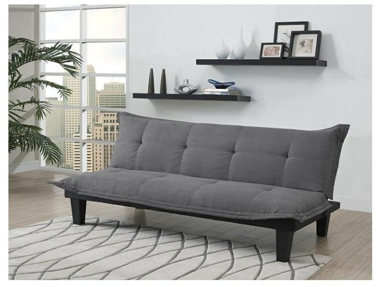 Couch With Microfiber Upholstery And