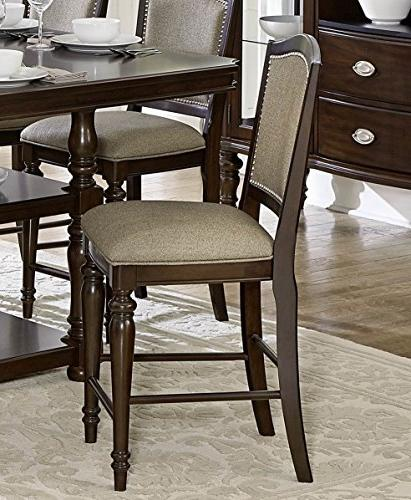marston upholstered counter chair espresso