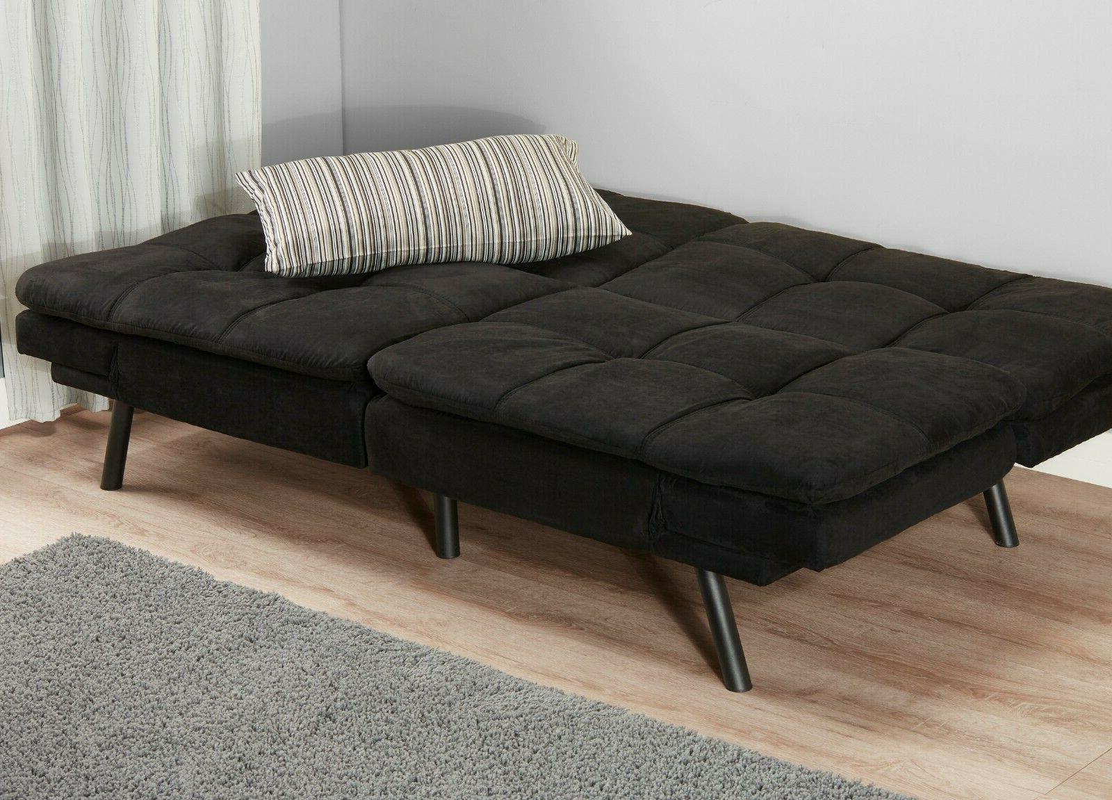 Memory Foam Bed Couch Convertible Black Camel Size