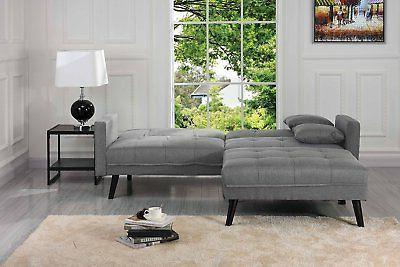 Mid-Century Futon Bed for Living Room Sleeper Couch,