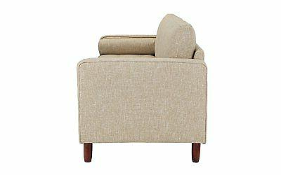 Modern Sofa with Tufted Linen Living