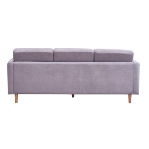 Modern Chaise Sectional Fabric Lounge