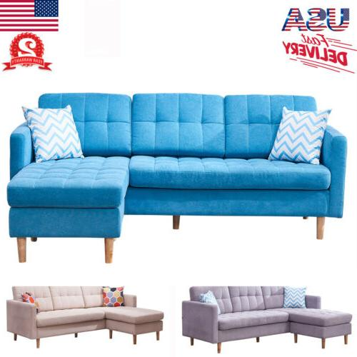 modern faux chaise l shape sectional fabric