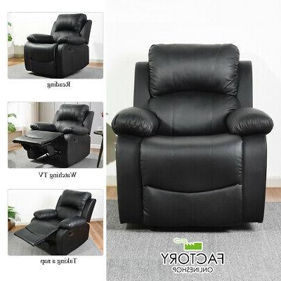 modern leather recliner chair single couch reclining