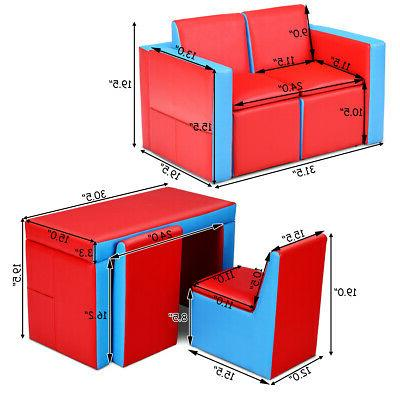 Multi-functional Kids Chair Couch Box Furniture Bedroom
