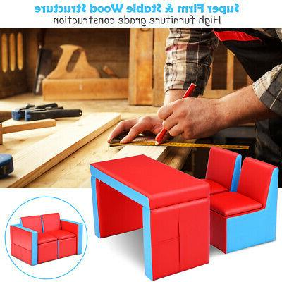 Multi-functional Kids Table Chair Set Box Bedroom